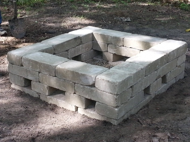 Wonderful How To Build A Square Fire Pit This Is Our 34x34 Square Fire Pit Materials Needed 34 7x14