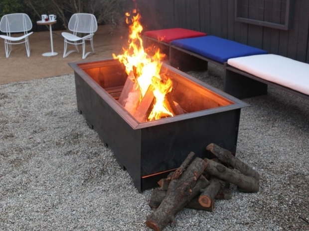 Large Wood Burning Fire Pit