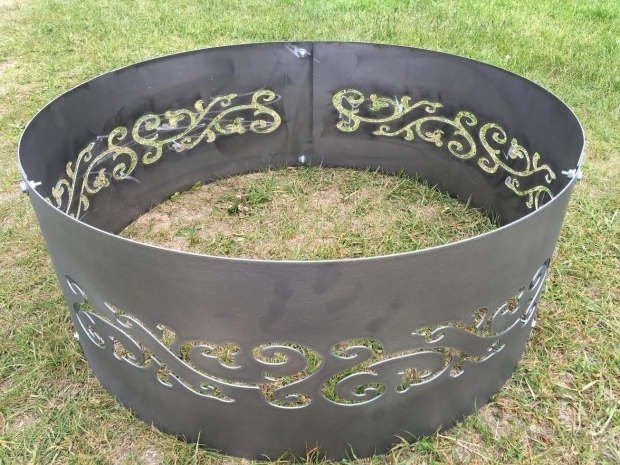 Wonderful Metal Ring For Fire Pit Fire Pit Etsy