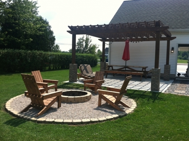 Amazing Chairs Around Fire Pit A Diy Back Yard Transformation Pergola Deck Fire Pit Diy At