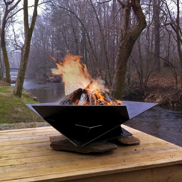 Amazing Corten Fire Pit Steel Origami Fire Pit 38 In From Thos Baker