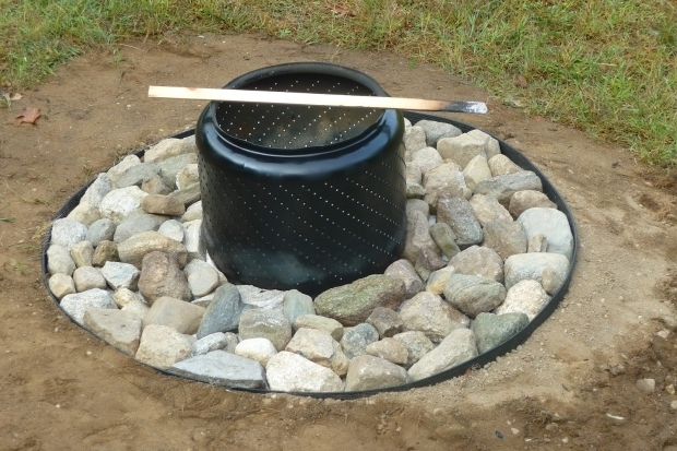 Delightful Washing Machine Tub Fire Pit Diy Fire Pit For As Little As 0 Patio Supply Outdoor Living