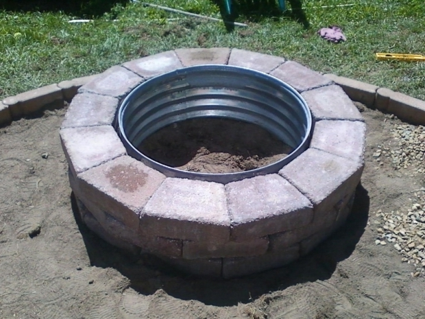 Fantastic Galvanized Fire Pit Ring Best 25 Fire Pit Ring Ideas On Pinterest