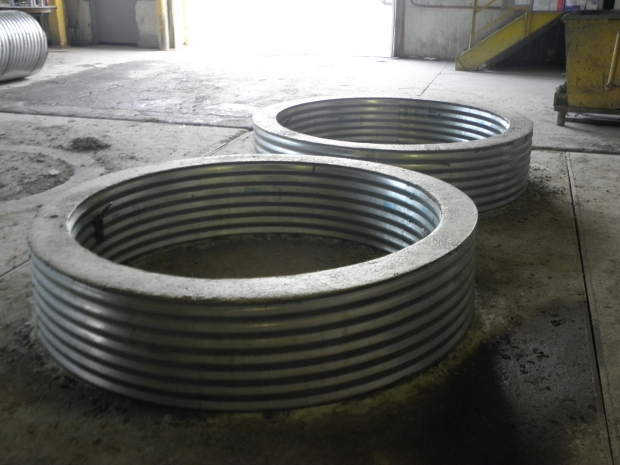 Image of Galvanized Fire Pit Ring Fire Pit Rings Cadillac Culvert Inc