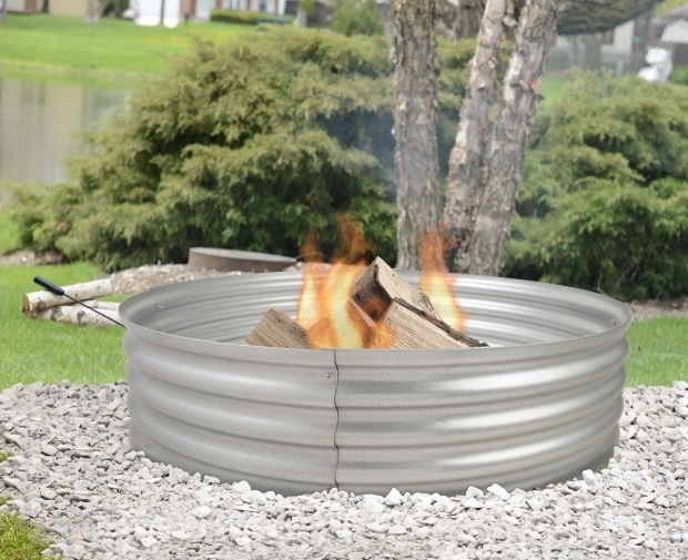 Image of Galvanized Fire Pit Ring Fire Pits Ghp Group Inc