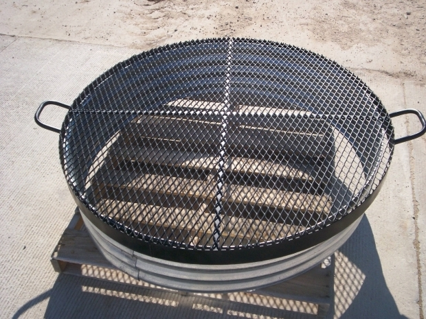 Image of Galvanized Fire Pit Ring Galvanized Steel Ring For Fire Pit Fire Pits Pinterest
