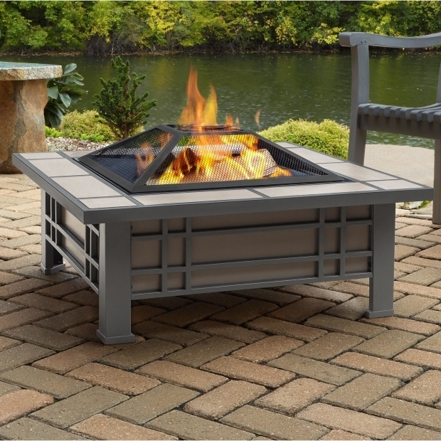 Picture of Outdoor Wood Burning Fire Pits Real Flame Morrison Steel Wood Burning Fire Pit Table Wayfair