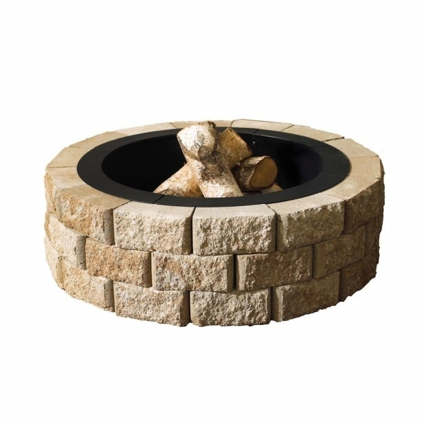 Remarkable Home Depot Fire Pit Stones Oldcastle Hudson Stone 40 In Round Fire Pit Kit 70300877 The