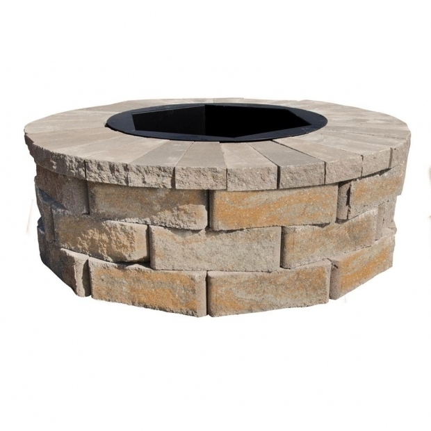 Stunning Home Depot Fire Pit Stones Pavestone Rumblestone 46 In X 14 In Round Concrete Fire Pit Kit