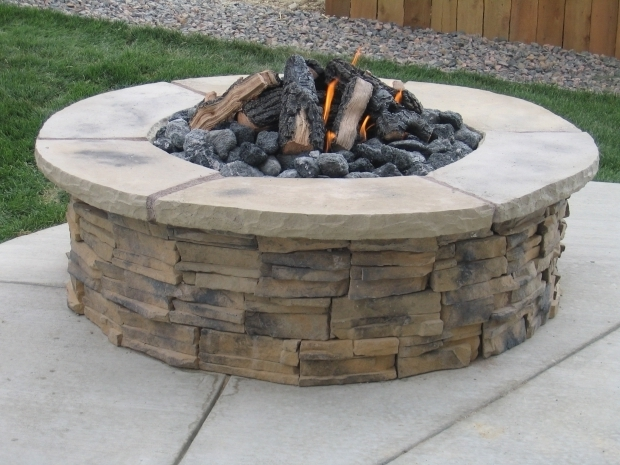 Amazing Wood Burning Fire Pit Kits Patio Ideas Gas With Stoned Round