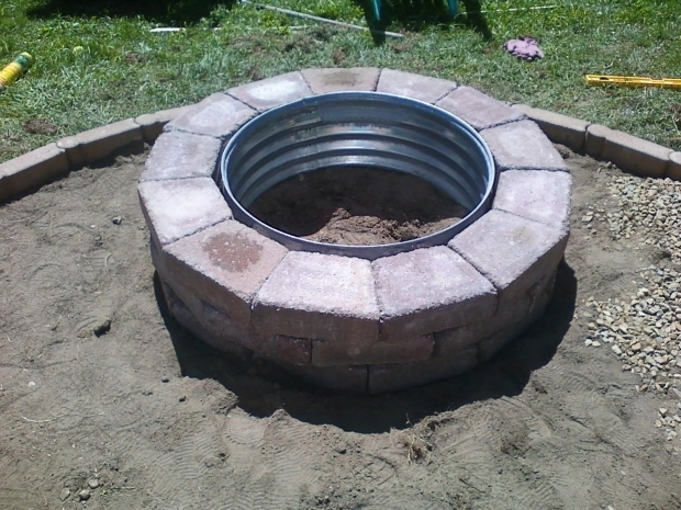Inspiring Make Your Own Fire Pit How To A Brick In Backyard Moon Garden