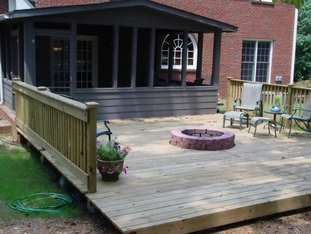 Wood Deck With Fire Pit Ideas