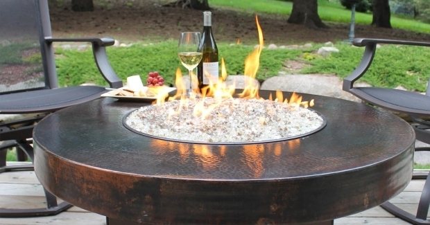 Gas Fire Pit With Glass Rocks