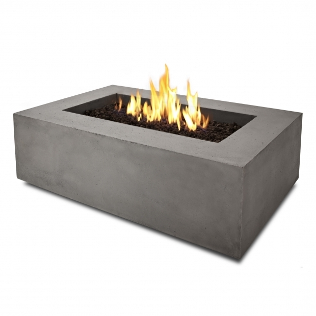 Rectangle fire pit table fire pit ideas for Concreteworks fire table