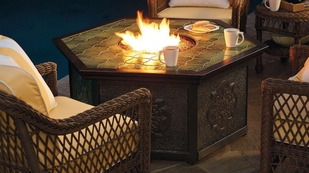 Image Of Frontgate Fire Pit Villa Custom Gas Table Beautiful Warm And Villas