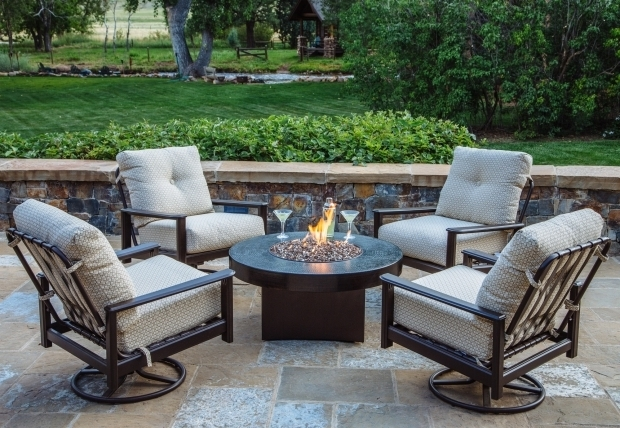 Image Of Patio Furniture Fire Pit Table Set Outdoor Chat Sets Gas Tables With
